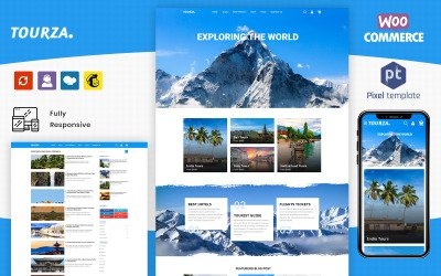 Tourza - Tour & Travel Agency Template WordPress Theme