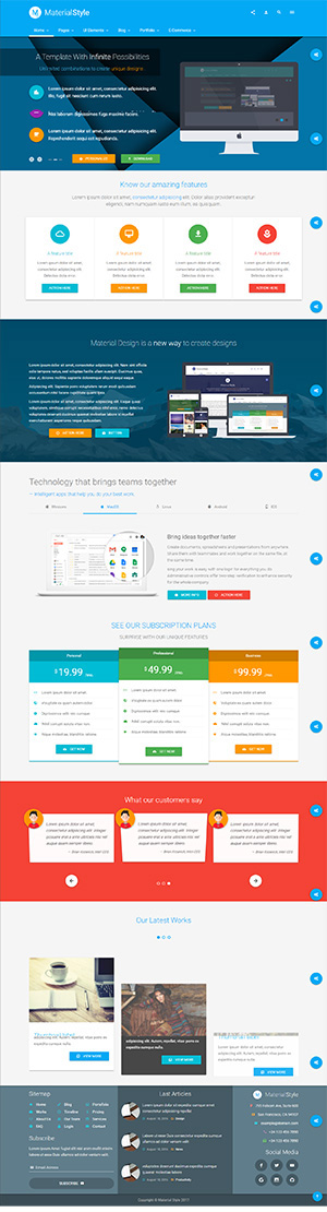 Material Website Template