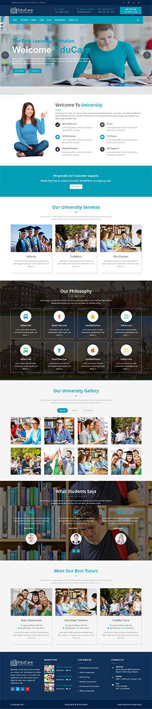 Educare Website Template