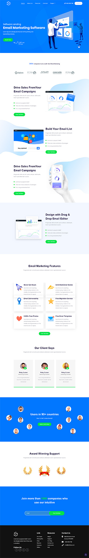Software Landing Page