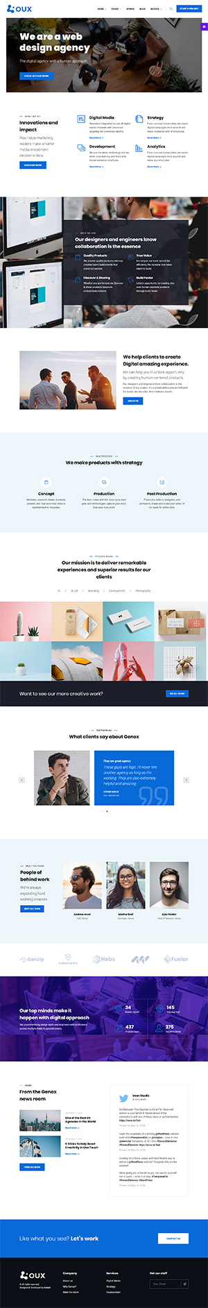 OUX Multipurpose Template