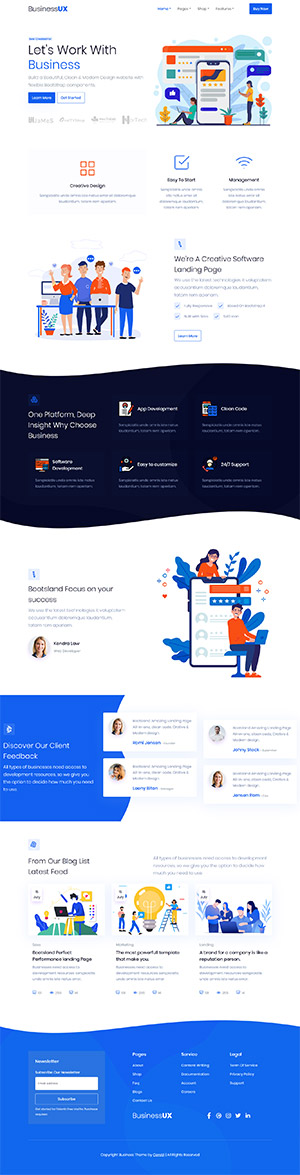 Business Saas Multipurpose Template