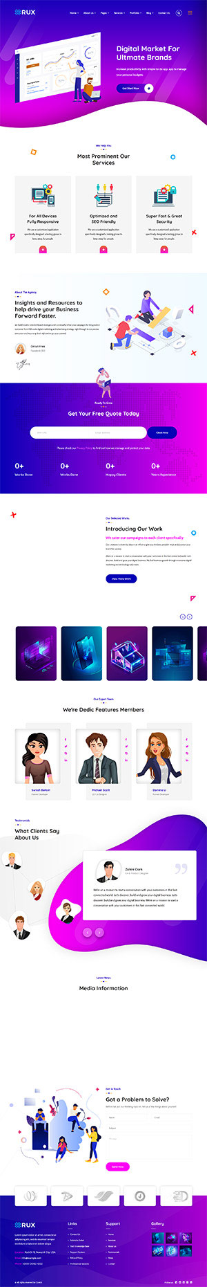 RUX Multipurpose Template